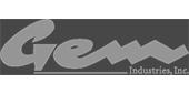 Gem Industries, Inc. logo on a white background.